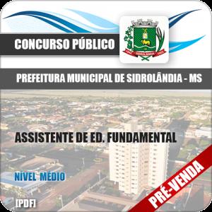 Apostila Pref Sidrolândia MS 2018 Assistente Ed. Fundamental