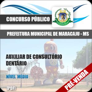 Apostila Pref Maracaju MS 2018 Aux Consultório Dentário