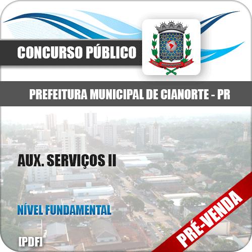 Apostila Pref de Cianorte PR 2018 Aux Serviços II