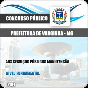 Apostila Pref Varginha MG 2018 Aux Serviços Públicos Manutenção