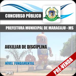 Apostila Pref Maracaju MS 2018 Auxiliar de Disciplina