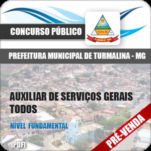 Apostila Pref Turmalina MG 2018 Aux Serviços Gerais Todos