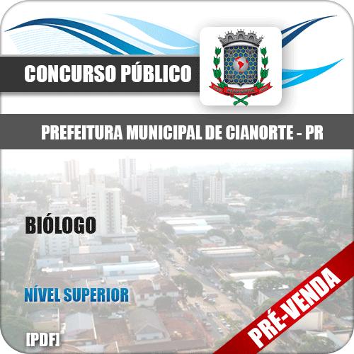 Apostila Prefeitura Municipal de Cianorte PR 2018 Biólogo