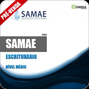 Apostila SAMAE Governador Celso Ramos 2018 Escriturário
