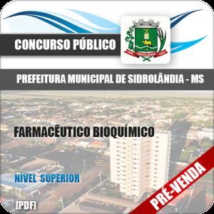 Apostila Pref Sidrolândia MS 2018 Farmacêutico Bioquímico