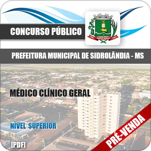 Apostila Pref Sidrolândia MS 2018 Médico Clínico Geral