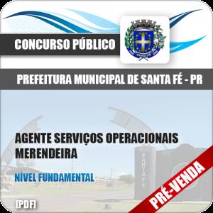 Apostila Pref Santa Fé PR 2018 Merendeira