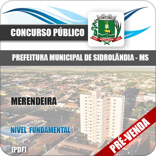 Apostila Pref Sidrolândia MS 2018 Merendeira