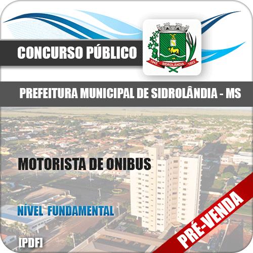 Apostila Pref Sidrolândia MS 2018 Motorista de Ônibus