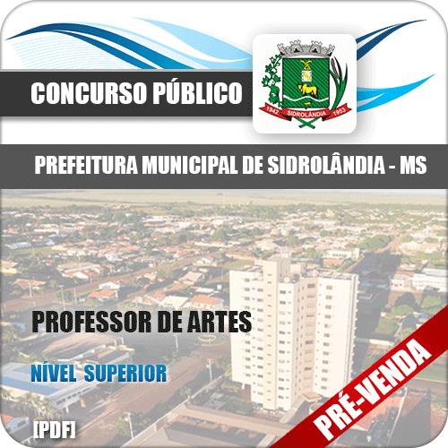 Apostila Pref Sidrolândia MS 2018 Professor de Artes