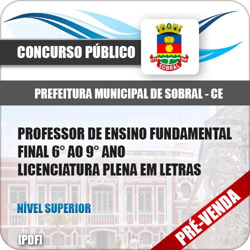 Apostila Pref Sobral CE 2018 Prof Ens Fundamental Letras