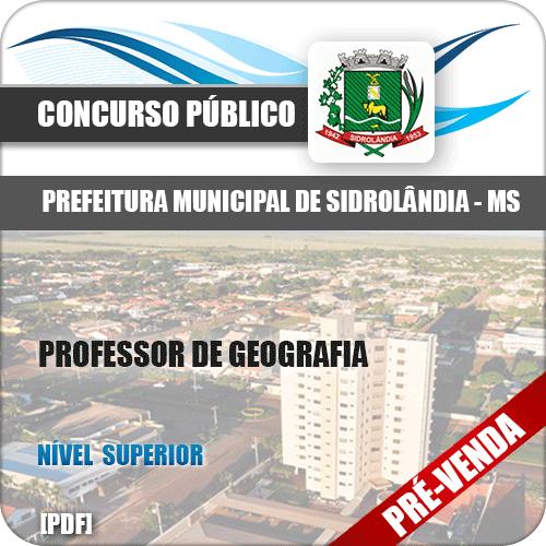 Apostila Pref Sidrolândia MS 2018 Professor de Geografia