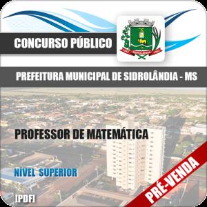 Apostila Pref Sidrolândia MS 2018 Professor de Matemática