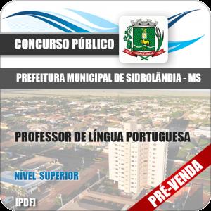 Apostila Pref Sidrolândia MS 2018 Professor Língua Portuguesa