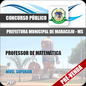 Apostila Pref Maracaju MS 2018 Professor de Matemática