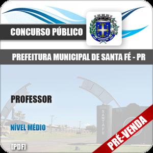 Apostila Pref Santa Fé PR 2018 Professor