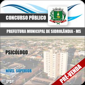 Apostila Pref Sidrolândia MS 2018 Psicólogo