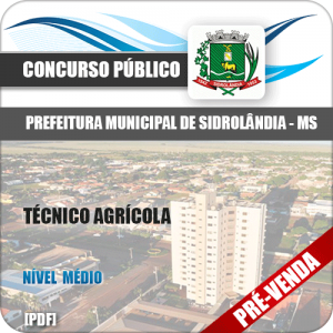 Apostila Pref Sidrolândia MS 2018 Técnico Agrícola