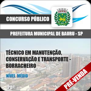 Apostila Pref Bauru SP 2018 Técnico Manutenção Borracheiro