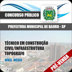 Apostila Pref Bauru SP 2018 Técnico Construção Topógrafo
