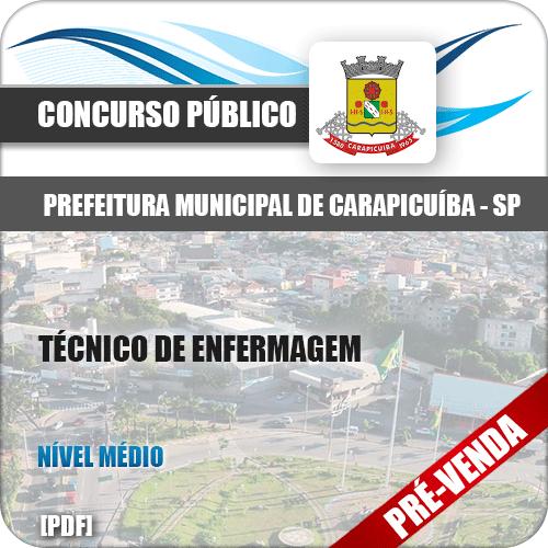 Apostila Pref Carapicuíba SP 2018 Técnico em Enfermagem