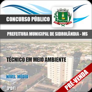 Apostila Pref Sidrolândia MS 2018 Técnico em Meio Ambiente