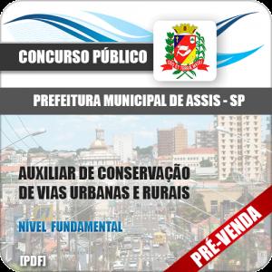 Apostila Pref Assis SP 2018 Aux Conservação Vias Urbanas e Rurais