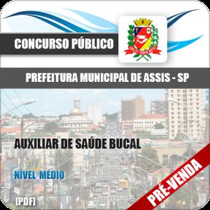 Apostila Pref Assis SP 2018 Auxiliar de Saúde Bucal