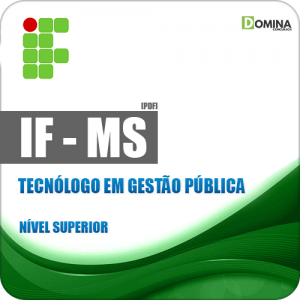 IFMS 2018 Tecnólogo em Gestão Pública