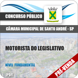 Apostila Câmara Santo André SP 2018 Motorista do Legislativo