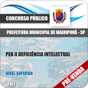 Apostila Pref Mairiporã SP 2018 PEB II Deficiência Intelectual