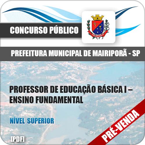 Apostila Pref Mairiporã SP 2018 PEB I Ensino Fundamental