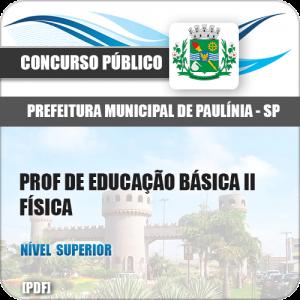 Pref Paulínia SP 2018 Prof de Educação Básica II Física