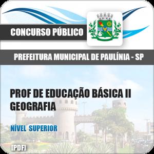 Pref Paulínia SP 2018 Prof de Educação Básica II Geografia