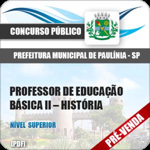 Apostila Pref Paulínia SP 2018 Prof de Educação Básica II História
