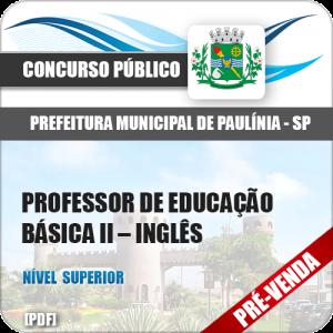 Apostila Pref Paulínia SP 2018 Prof de Educação Básica II Inglês