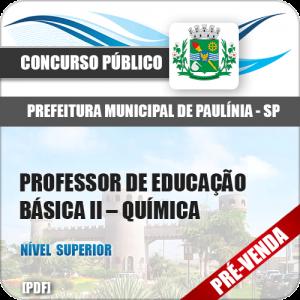 Apostila Pref Paulínia SP 2018 Prof de Educação Básica II Química