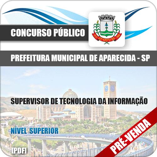 Apostila Pref Aparecida SP 2018 Supervisor Tecnologia Informação