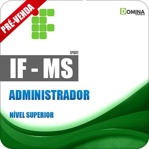 Apostila IFMS 2018 Administrador