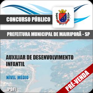 Apostila Pref Mairiporã SP 2018 PEB I Educação Infantil