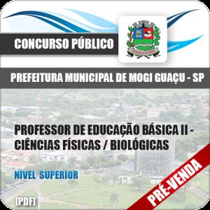 Apostila Pref Mogi Guaçu SP 2018 Prof Ed Básica II Ciências Físicas