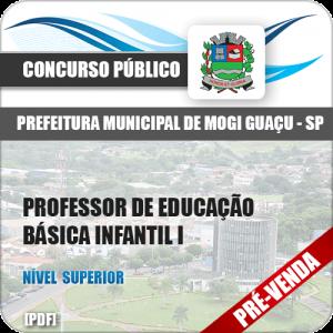 Apostila Pref Mogi Guaçu SP 2018 Prof Educação Básica Infantil I