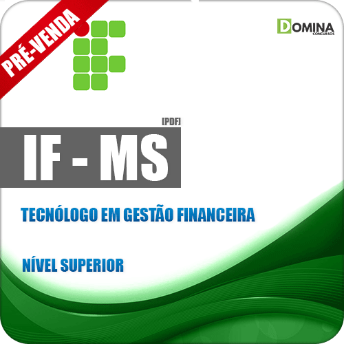 Apostila IFMS 2018 Tecnólogo em Gestão Financeira