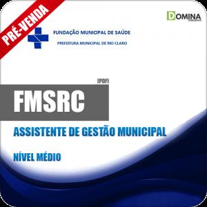 Apostila FMSRC SP 2018 Assistente de Gestão Municipal