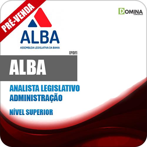 Apostila AL BA 2018 Analista Legislativo Administração
