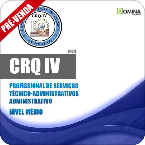Apostila CRQ IV 2018 Prof Serv Téc Administrativos - Administrativo
