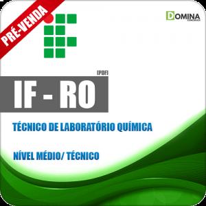 Apostila IF RO 2018 Técnico de Laboratório Química