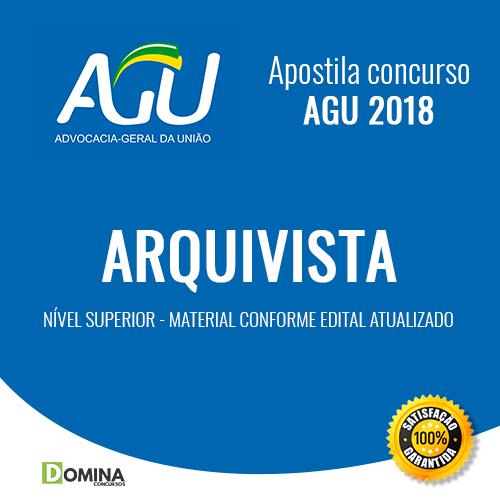 Apostila Advocacia Geral da União AGU 2018 Arquivista