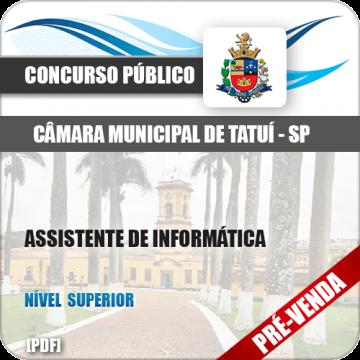 Apostila Câmara Municipal de Tatuí SP 2018 Assistente Informática