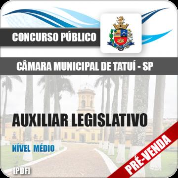 Apostila Câmara Municipal de Tatuí SP 2018 Auxiliar Legislativo